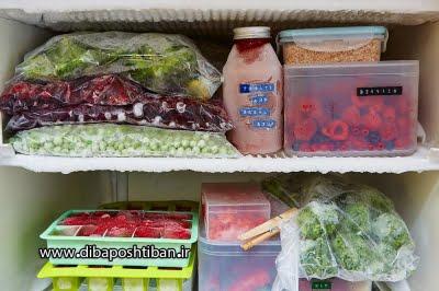 علت یخ زدن مواد غذایی در یخچال