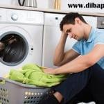 ماشین لباسشویی آبگیری می کند اما کمی بعد از کار می افتد