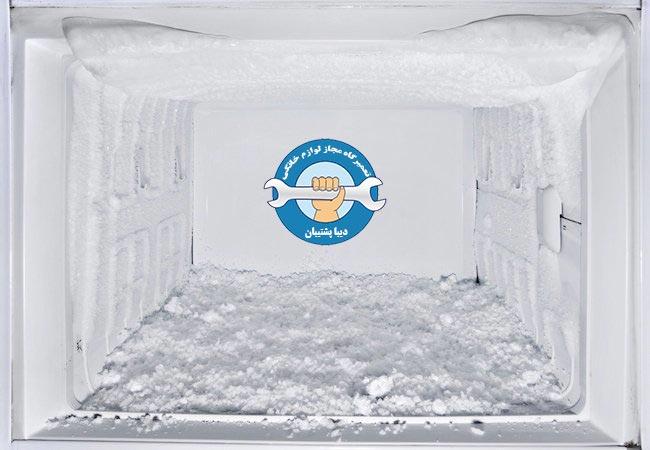 علت برفک زدن قسمت فریزر یخچال در یخچال فریزر و ساید بای ساید