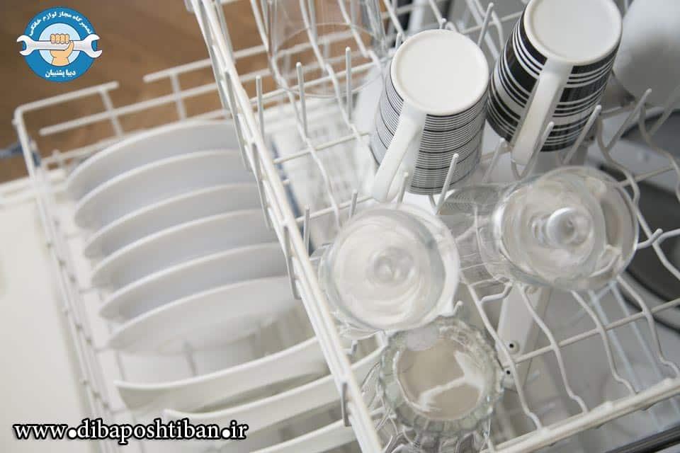 علت خش افتادن روی ظروف در ماشین ظرفشویی