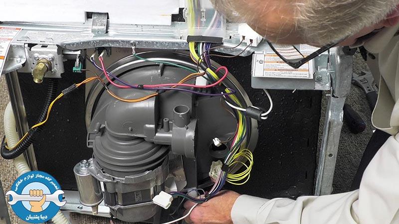 علائم سوختن موتور ماشین ظرفشویی و آموزش تعمیر و رفع ایراد