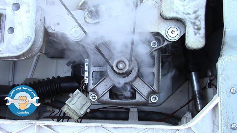 علت ها و علائم سوختن موتور ماشین لباسشویی
