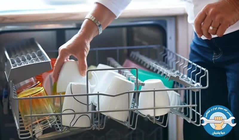 چیدمان نادرست ظروف در دستگاه ظرفشویی
