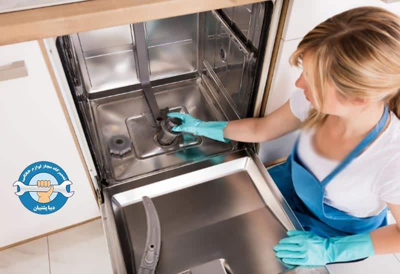 انسداد فیلتر تخلیه ماشین ظرفشویی
