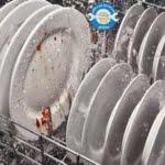 آبکشی نکردن ظروف در ماشین ظرفشویی