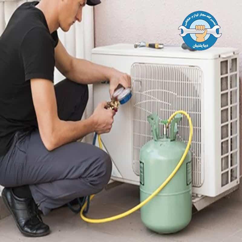 شارژ کردن و نگهداری از گاز کولر اسپیلت