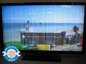 خطوط عمودی روی صفحه تلویزیون الایدی