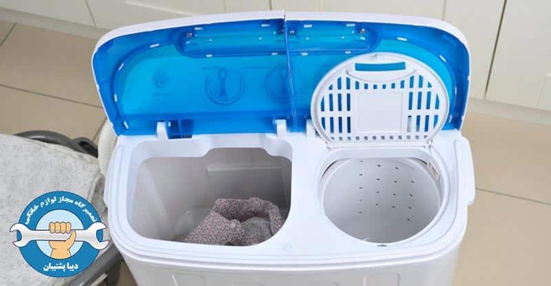 علائم خرابی خازن ماشین لباسشویی دوقلو