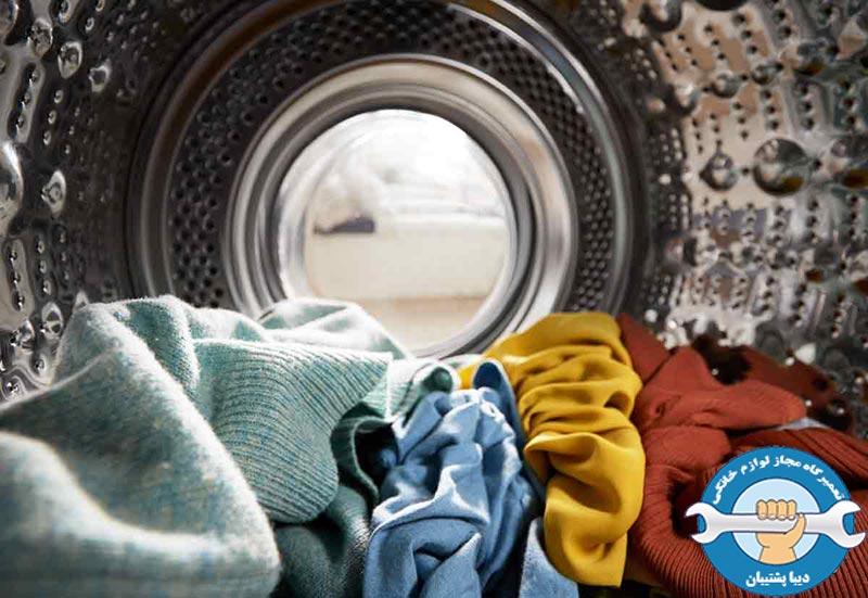 علائم سوختن برد الکتریکی ماشین لباسشویی