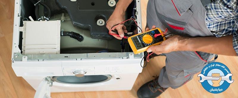 مراحل تعمیر برد الکتریکی ماشین لباسشویی